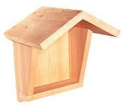 Photo of a shelter to attract black phoebes, barn swallows and cliff swallows.