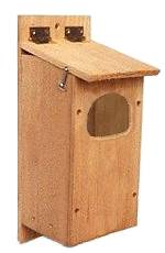 Cedar birdhouse for barred owls.