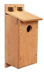 Cedar Nest Box for Flickers, Lewis's Woodpeckers, Saw-whet Owls, Pygmy Owls & Grackles.