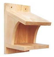 Pine platform for phoebes and robiins