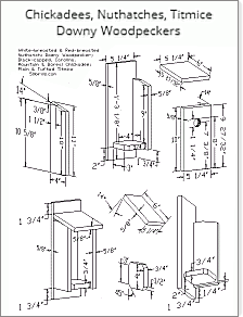 Print chickadee birdhouse plans or just view on a phone in your work space.